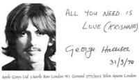 venuta di prabhupada in america, george harrison all you need is love